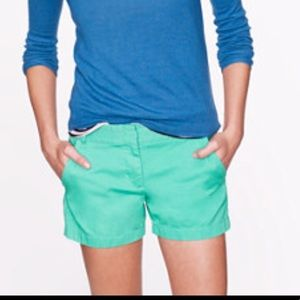 "JCrew 4"" Chino Shorts, never worn"
